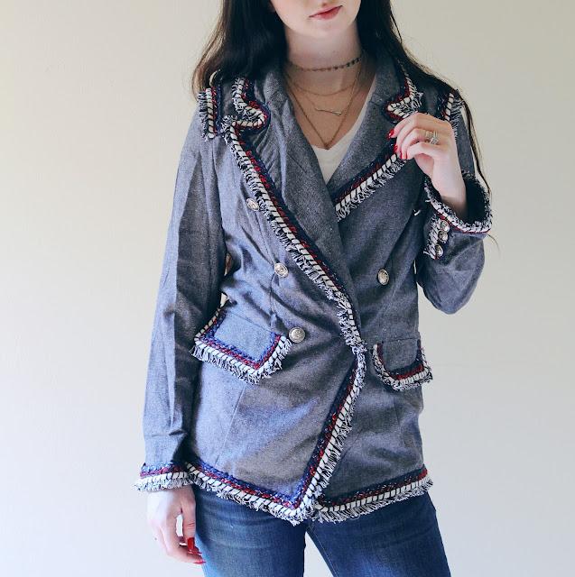 fringe blazer from SHEIN