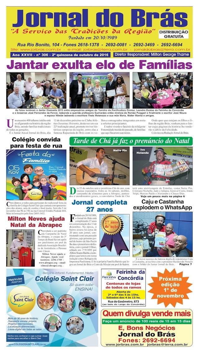 Destaques da Ed. 306 - Jornal do Brás