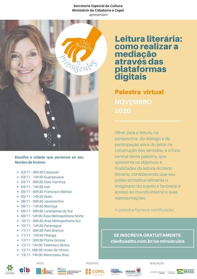 Palestras gratuitas: inscrições abertas para professores do Paraná
