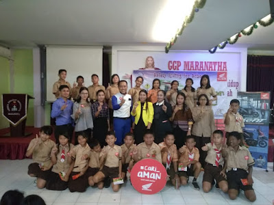 Safety Riding Goes To School Capella 2019 sambangi Sekolah Maranatha