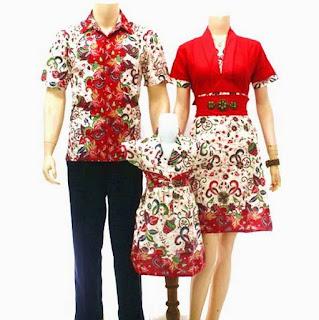 model baju batik sarimbit keluarga dan anak