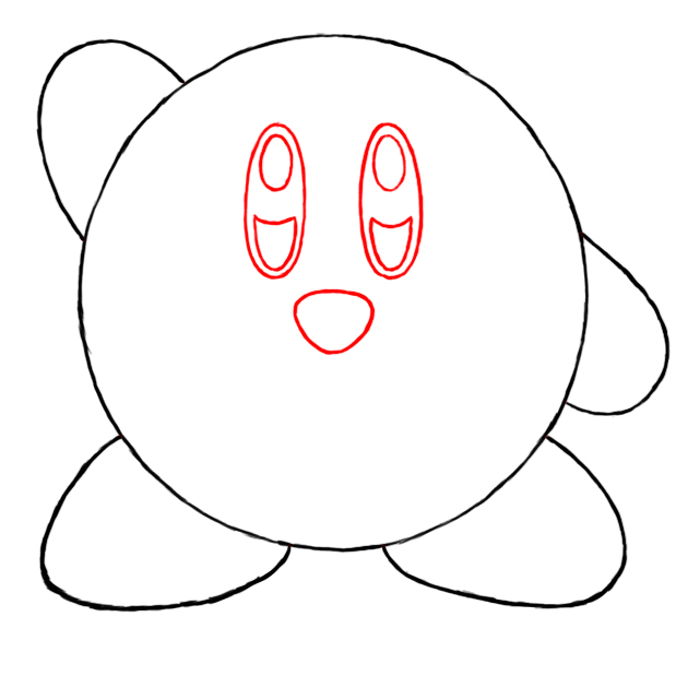 how to draw kirby