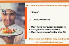مطاعم الإيطالي الأمريكي يفتح طلبات التوظيف طباخين