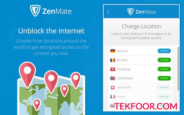 اضافة جوجل كروك Zenmate VPN