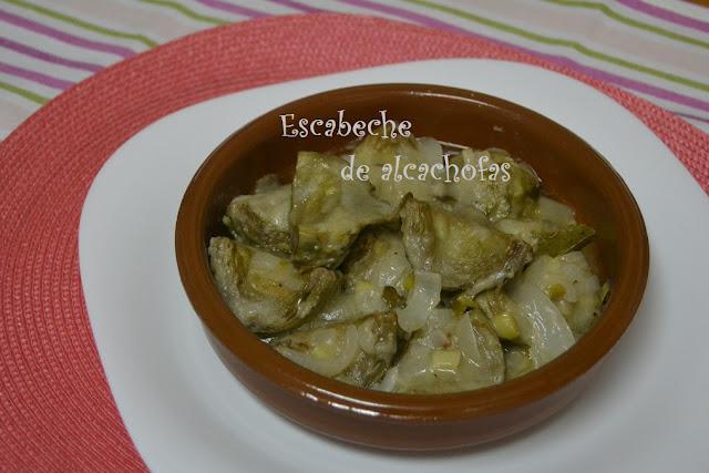 ALCACHOFAS EN ESCABECHE.