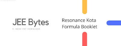 Resonace PCM Formula Booklet