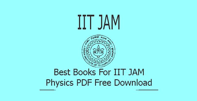 Books For IIT JAM Physics