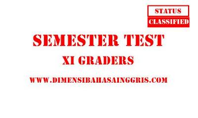 Soal PAS Bahasa Inggris Kelas 11 Terbaru