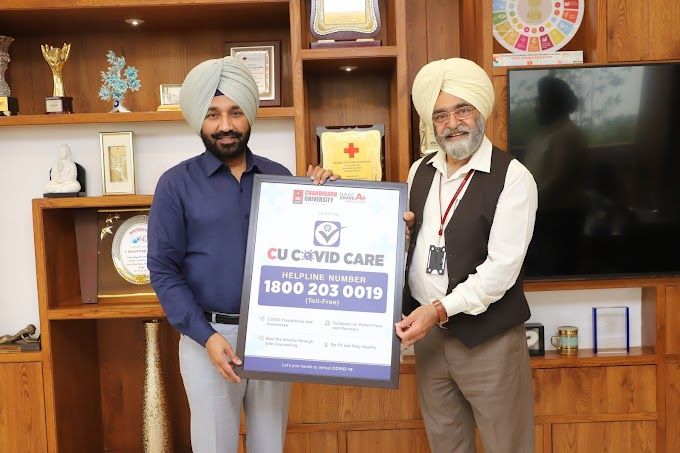 Chandigarh University launches COVID CARE Toll-Free Helpline for the benefit of students and COVID patients