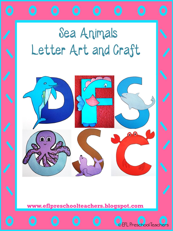 Esl Efl Preschool Teachers Alphabet Letters Art And Craft
