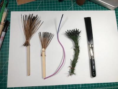 more handmade brushes