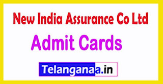 New India Assurance Co Ltd (NIACL) Admit Card 2017 Download