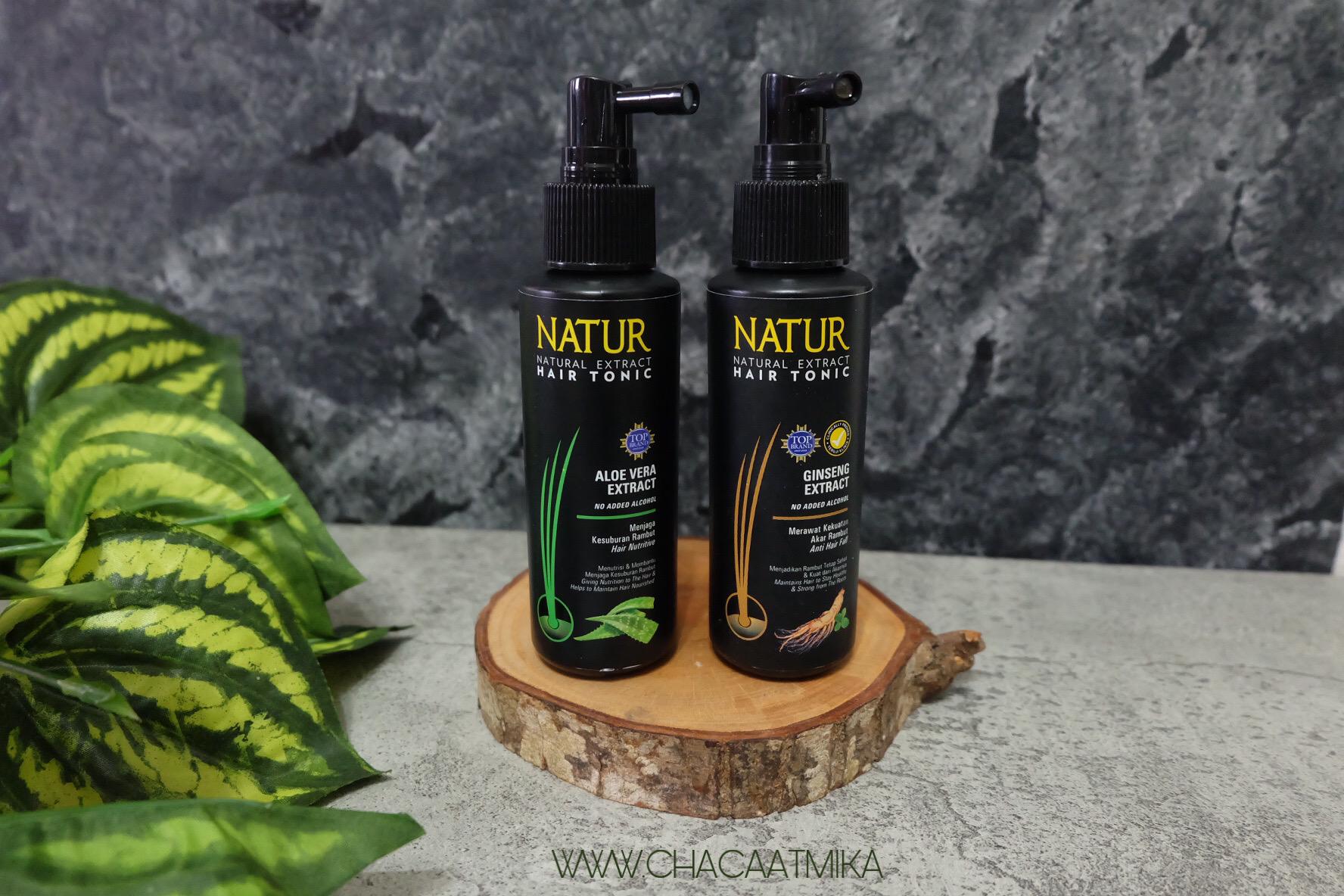 NATUR Hair Tonic Aloe Vera dan Ginseng