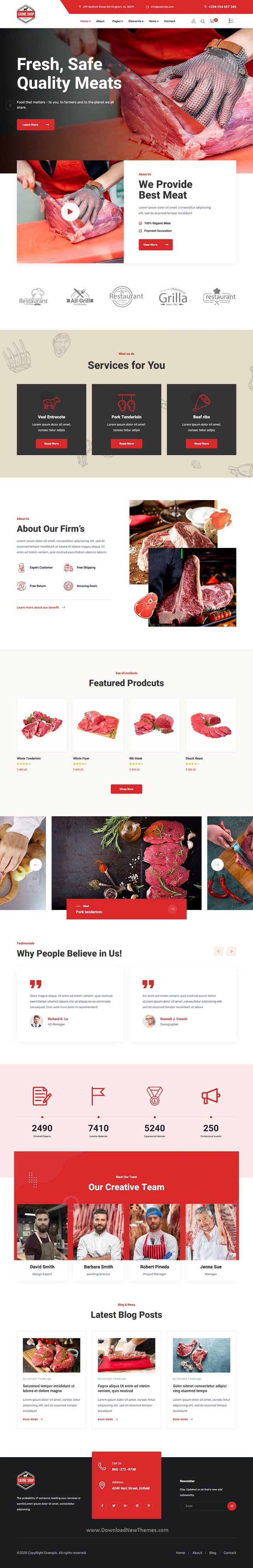 Butcher & Meat Shop HTML Template