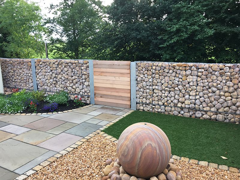 55 best gabion wall stone fences that will decorate your for Xd garden design