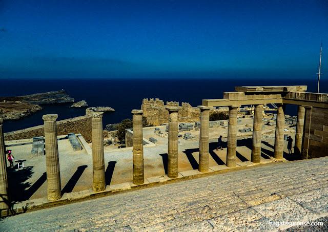 Acrópole de Lindos, ilha de Rodes, Grécia