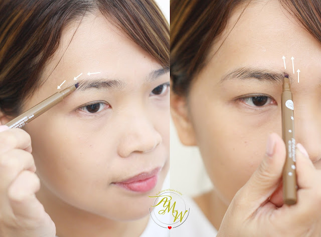a photo on how to apply Cathy Doll RealBrow 4D Tattoo Tint review in shades Light Brown_AskMeWhats