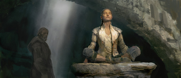 Rey Meditates (Illustrated by Sweet)