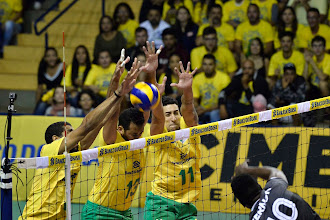 Brasil sofre,mas vence primeiro amistoso de vôlei masculino contra o Canadá
