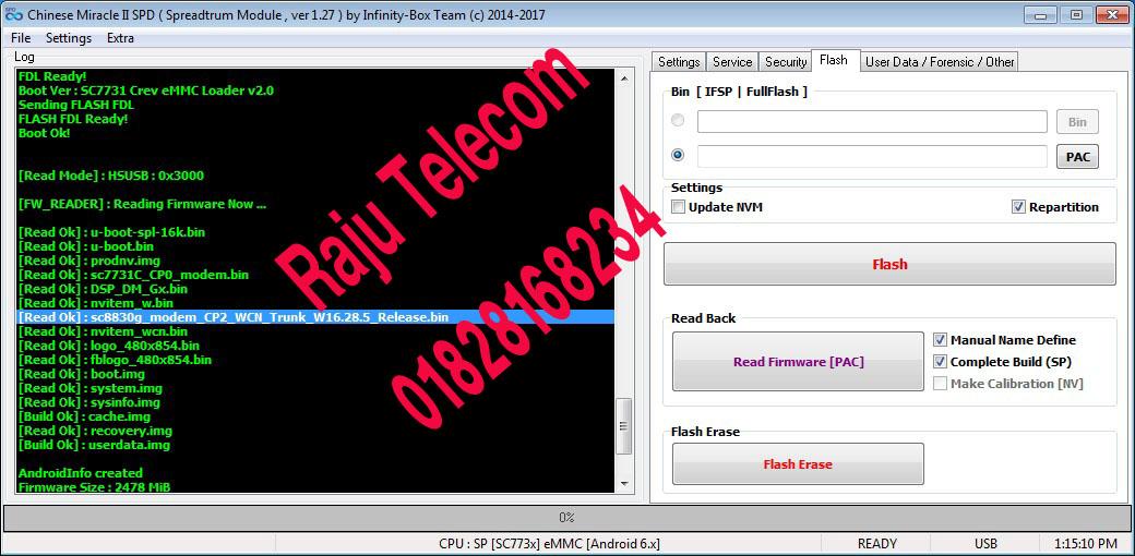 Raju Telecom Dhaka Gazipur Mobile: Walton GF5 V6 SC77xx
