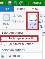 How To Crop Image in Paint