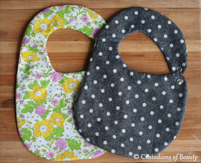 DIY Bibs and Nuk Clips | by CustodiansofBeauty.blogspot.com