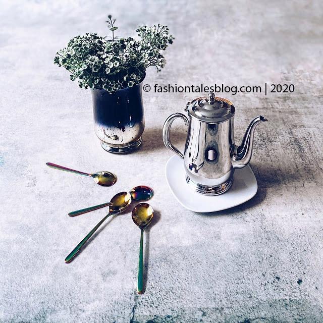 luxury spoons coffee pot