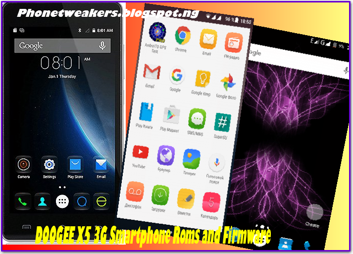 Latest Doogee X5 Custom and stock Roms Collections 5/4/2016