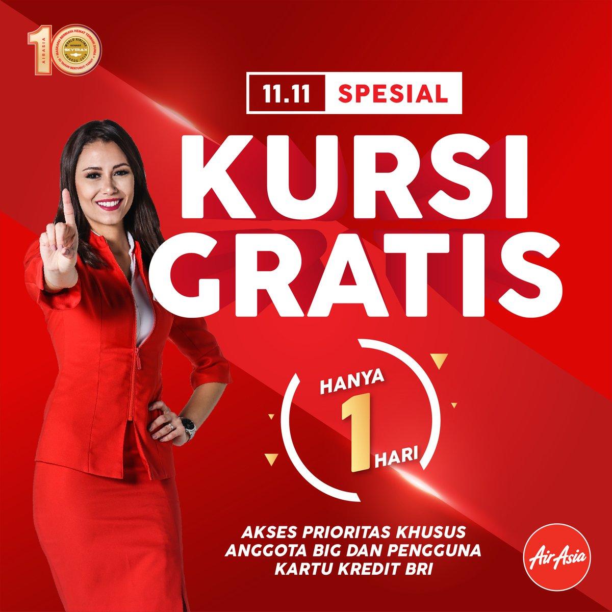 AirAsia - Promo Spesial HARBOLNAS 11.11 5 Juta Kursi Promo Liburan (11 Nov 2018)