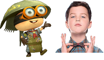 Splatoon 2 Sheldon The Big Bang Theory Young Sheldon side-by-side comparison