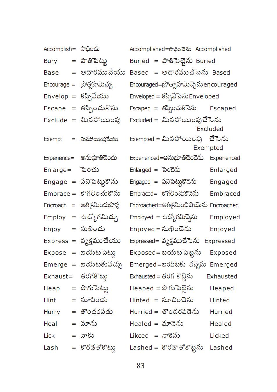 suffice meaning in telugu