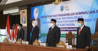 Bupati Tantri Pimpin Pelantikan Dan Pengambilan Sumpah 119 Pejabat