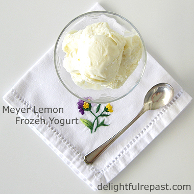 Meyer Lemon Frozen Yogurt / www.delightfulrepast.com