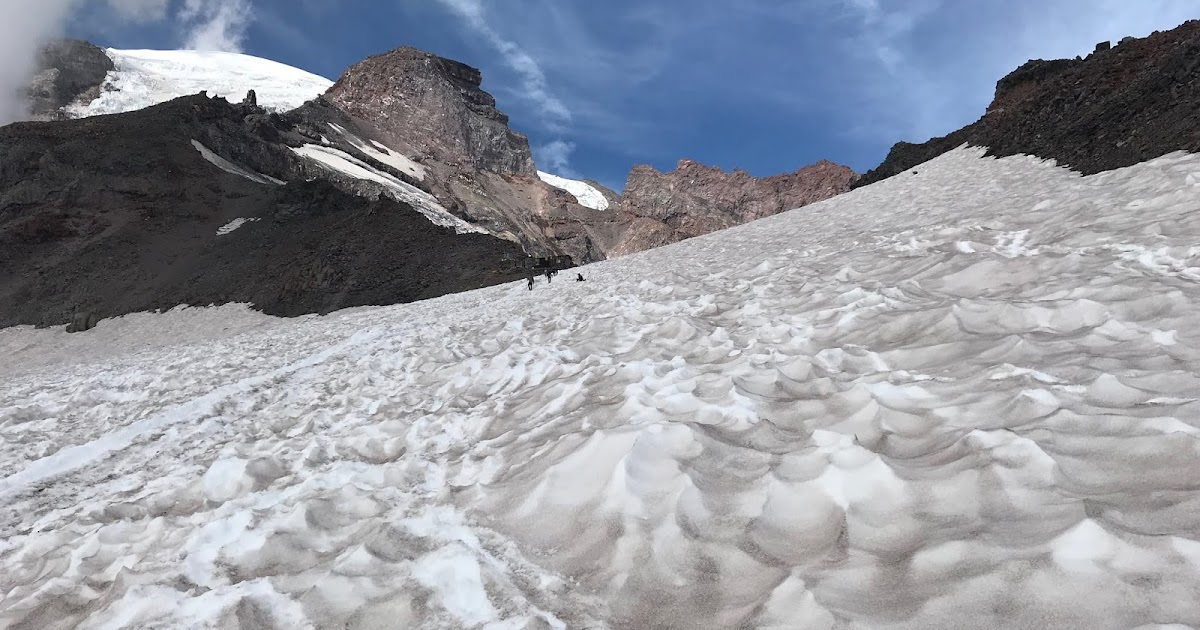 Muir Snowfield Conditions 8/15/2019