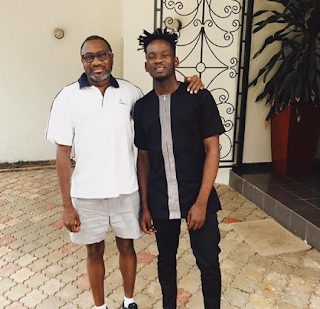 Femi Otedola and Mr Eazi
