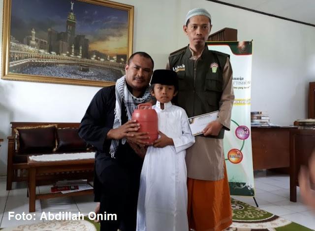 Anak INdonesia usia 7 tahun sumbang palestina
