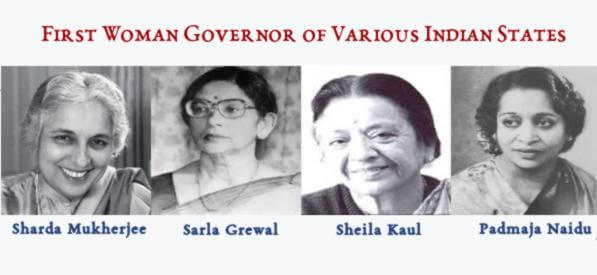First Woman Governor of Various Indian States
