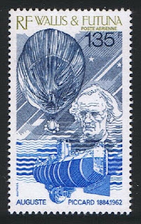 Wallis and Futuna August Piccard Physicist Submarine Hot Air Balloon