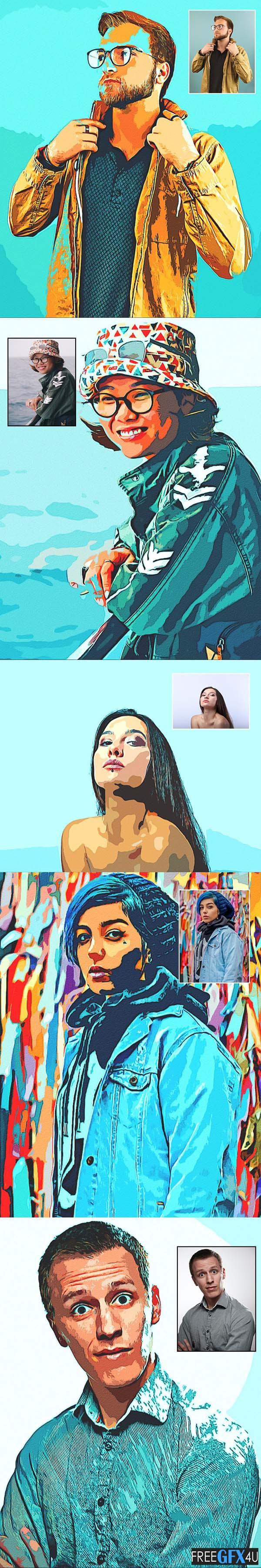 Retro Oil Paint - Photoshop Action