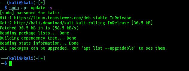 update kali linux