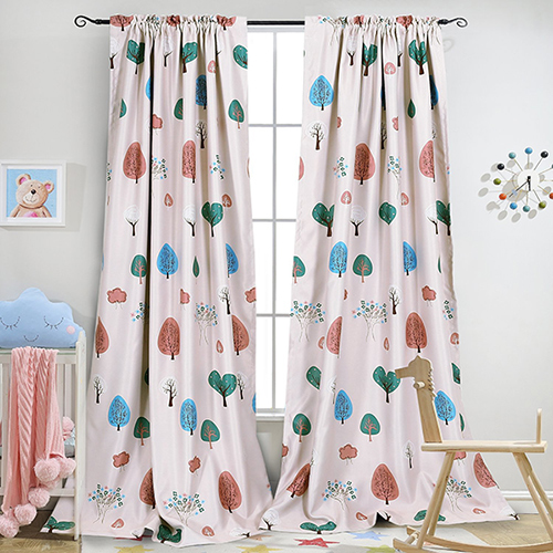 Cartoon Trees Curtains