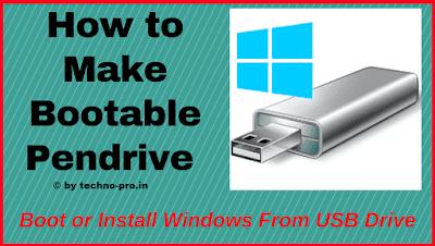 How to make bootable pendrive | Make pendrive bootable