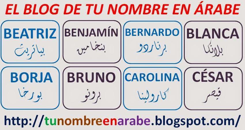 Tu Nombre En árabe Imagenes De 40 Nombres En Arabe