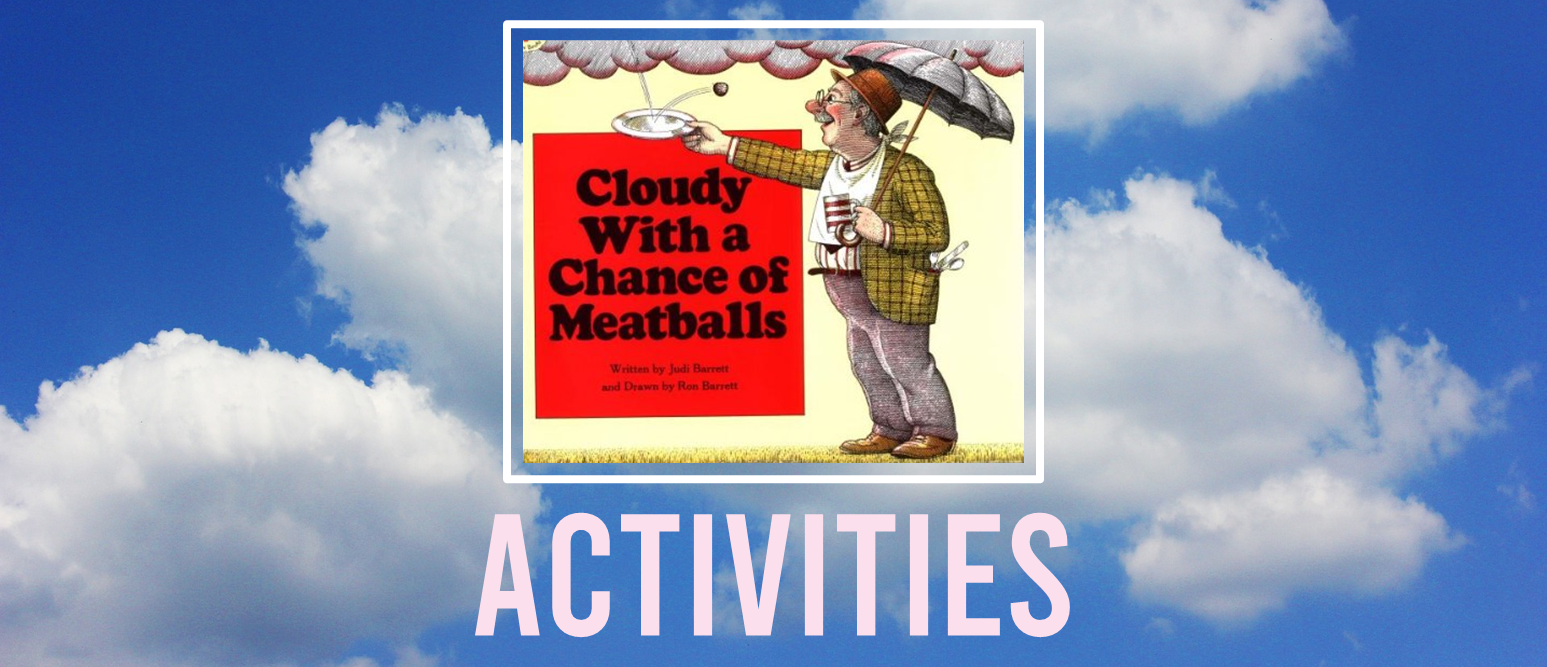 Cloudy With a Chance of Meatballs book study literacy unit with Common Core aligned companion activities and class book for Kindergarten & First Grade