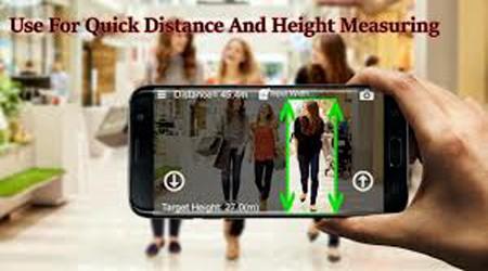 قياس المسافات عن طريق تطبيق الكاميرا