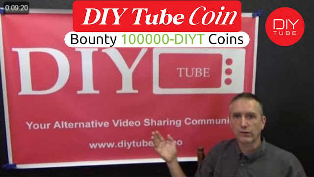 DIY Tube Coin Bounty[$10000- DIYT Coin] Get Paid For Video Views And Comments