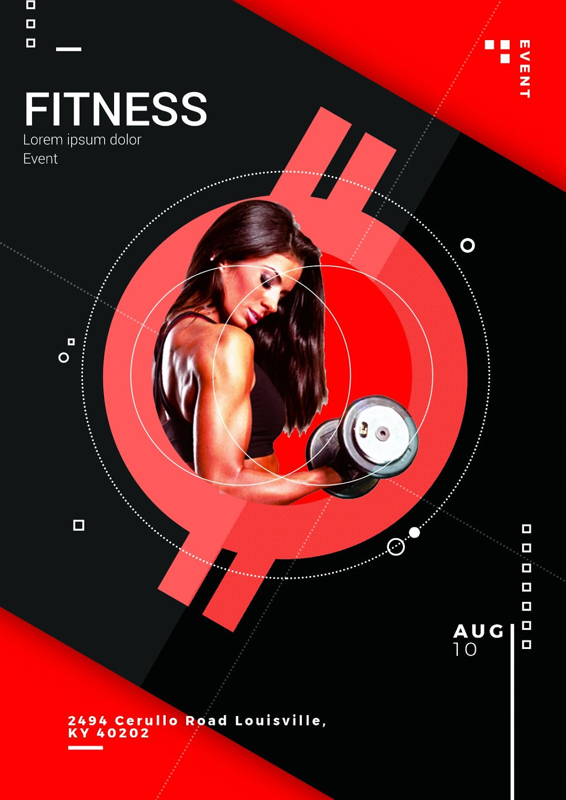 Fitness Event Flyer PSD Templates Download Free For Photoshop