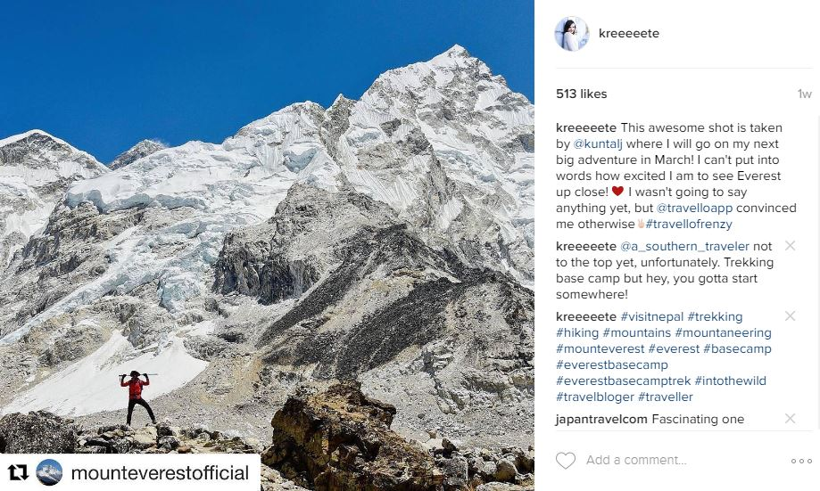 I have been pushing very hard for my dreams and Travello along with StudentFlights have been helping me make them a reality. Read more about my adventure to Everest!