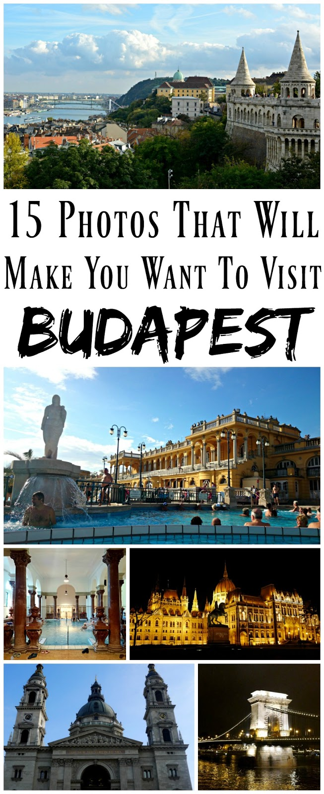 PIN FOR LATER: 15 Photos That Will Make You Want to Visit Budapest in Hungary! This beautiful old European city has seen so much history, from the Ottoman Empire, the Habsburgs, the Soviet Union, and finally independence! Budapest is beautiful, with so much to see and do in a long weekend.