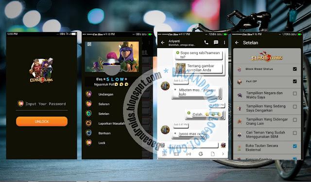 BBM Mod Thema Clash Of Clans/COC Apk Versi 2.13.0.26 Terbaru